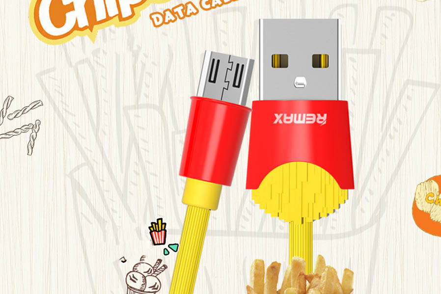 USB Kабель MicroUsb Remax Chips RC-114m 1 метр (желтый)