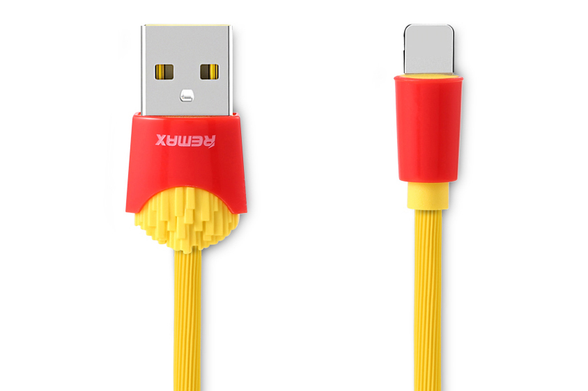 USB Кабель Lightning Remax Chips RC-114i 1 метр (желтый)
