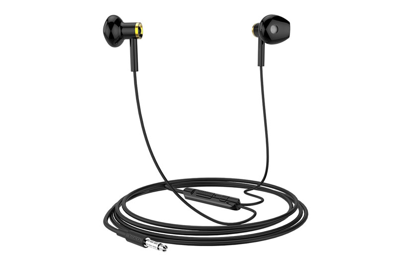 Гарнитура 3.5 HOCO M47 Canorous wire control earphones with microphone (черный)