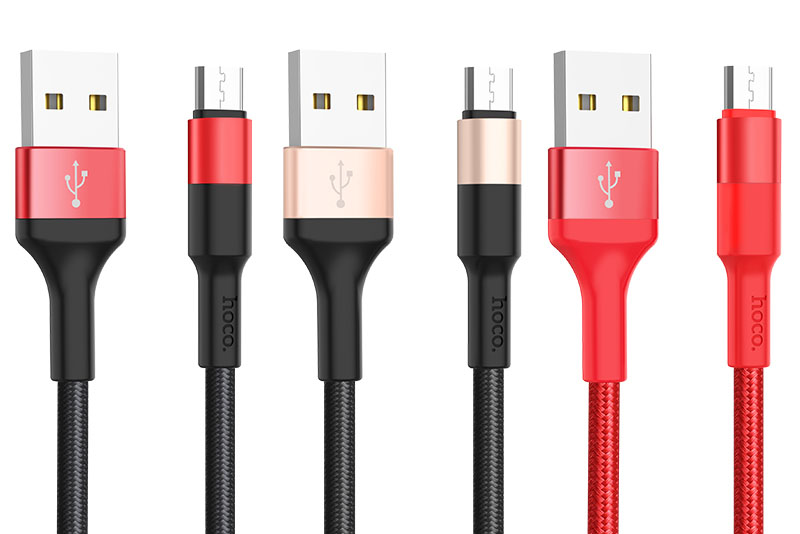 USB Кабель MicroUsb HOCO X26 Xpress charging data cable for Micro 1 метр (красный)